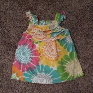 Other - Carters Comfy Bright Baby Girl Dress Wotan Ruffles